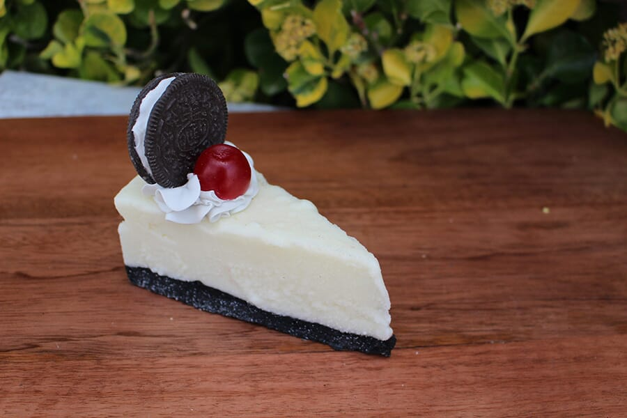 Fake Slice of Cheesecake with an Oreo