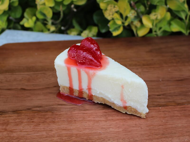 Fake Slice of Cheesecake with Strawberries