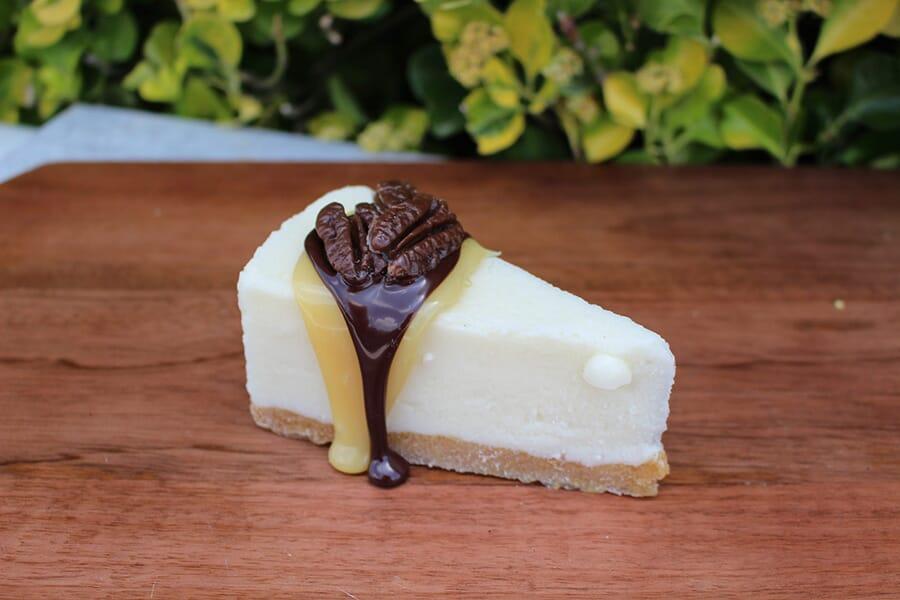 Fake Slice of Turtle Cheesecake