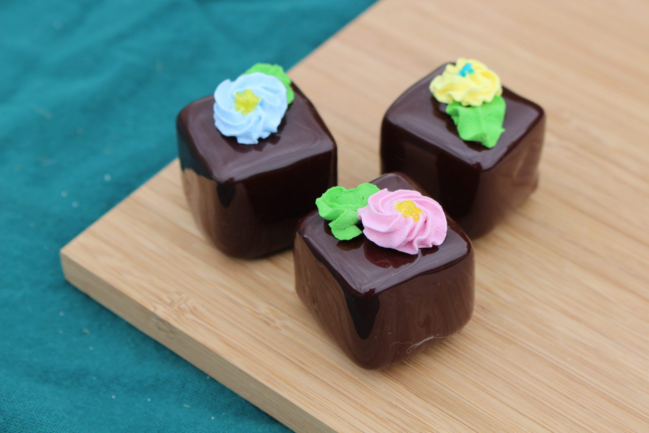 Fake Small Chocolate Petit Fours (Set of 3)