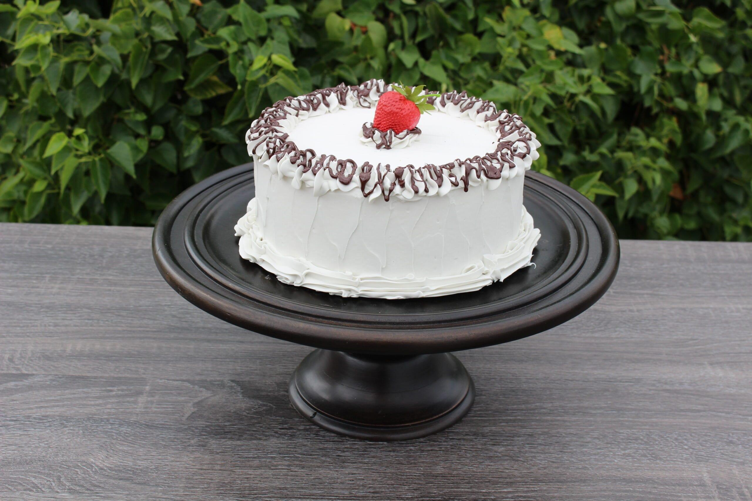 Fake Large Vanilla Frosted Cake