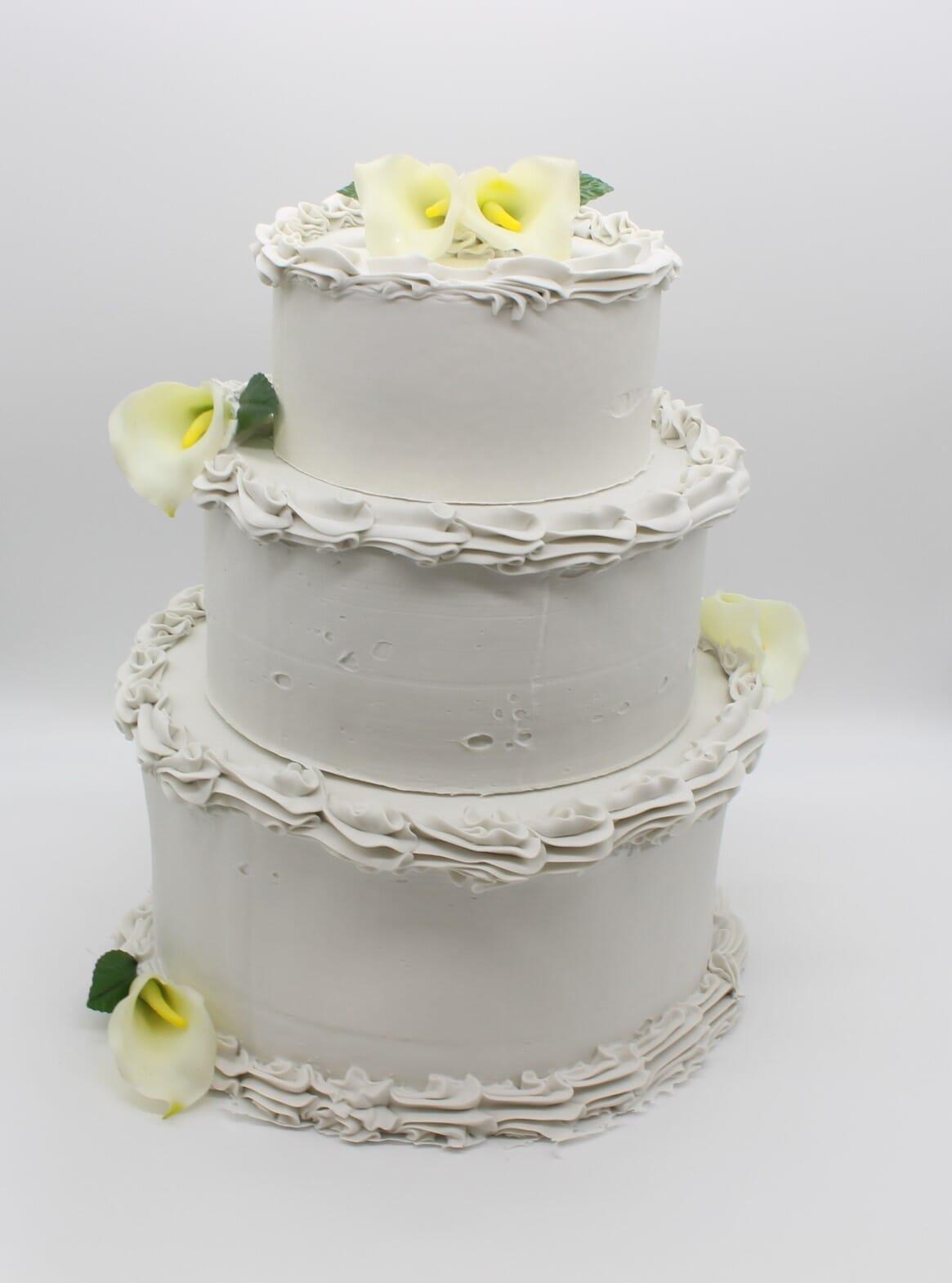 Fake Wedding Cake (3 tiers)