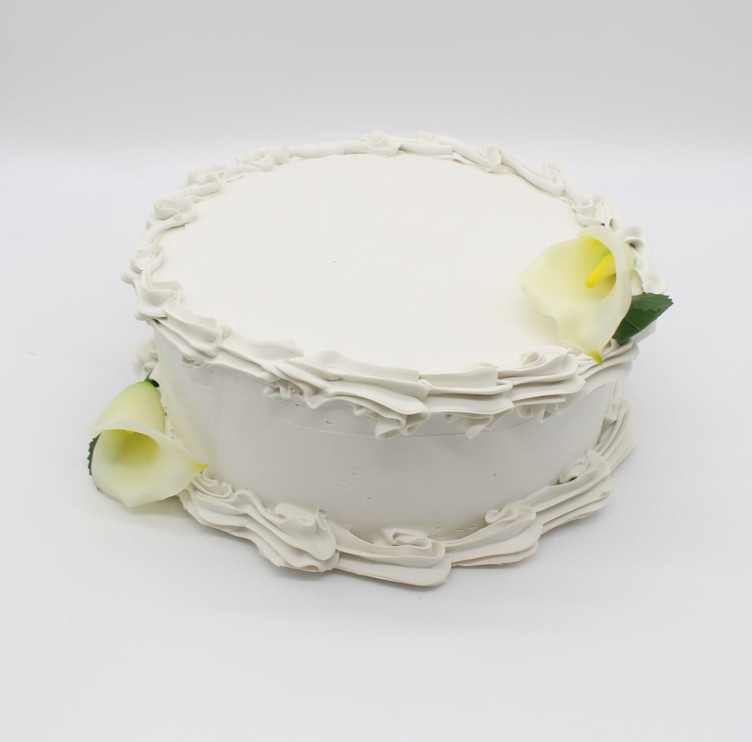 """Fake Wedding Cake 10"""" Single Layer"""