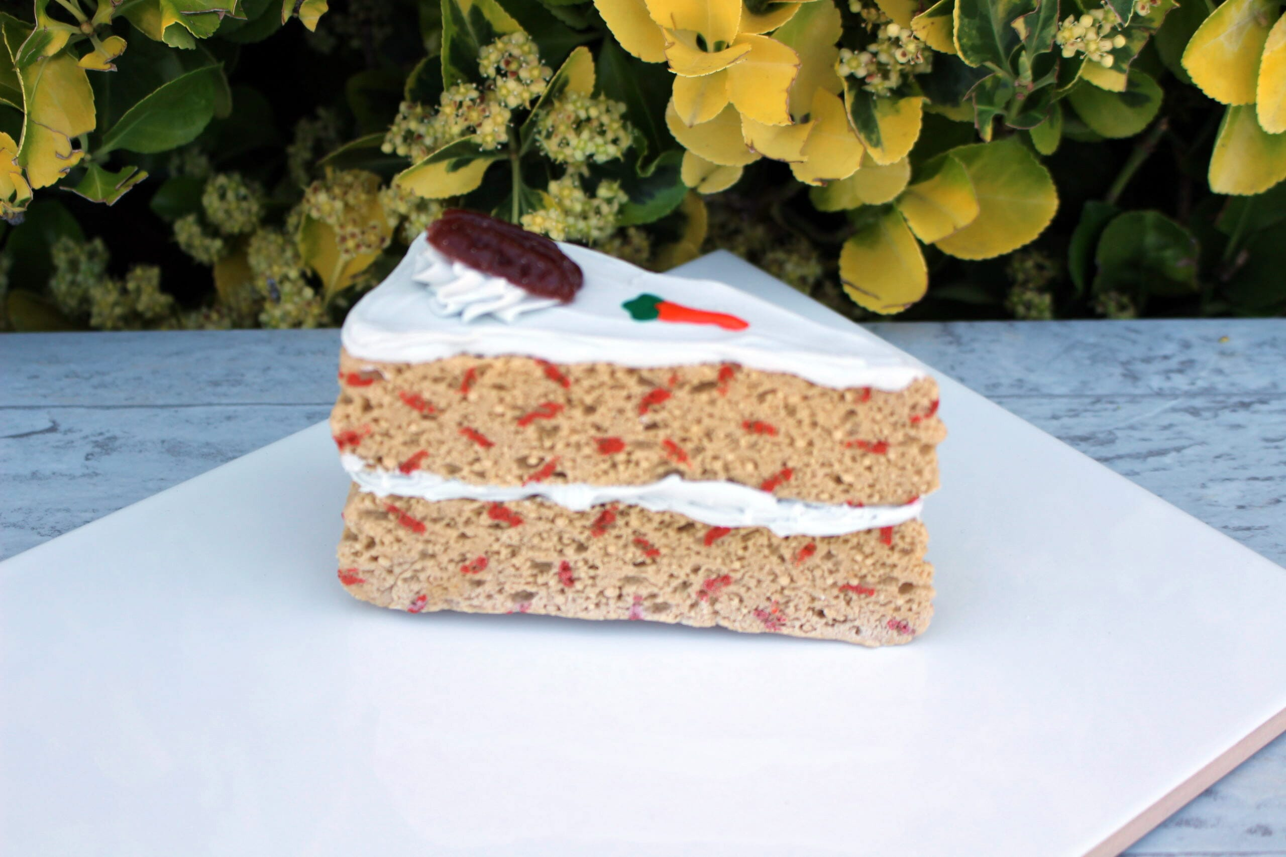 Fake Carrot Cake Slice