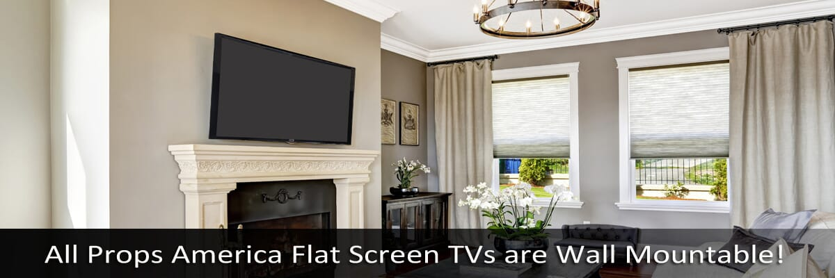 60 Inch Prop TVs - 60 Inch Fake Curved TV Props & 60 Inch Flat Screen Prop TVs
