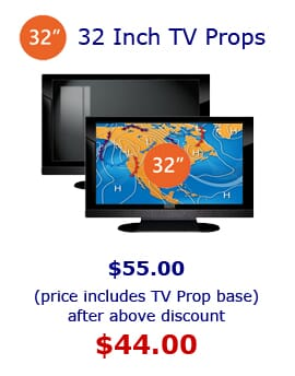 32' Prop TVs for Model Home Staging.  32' Fake Plasma TV Prop and Fake Electronics by Props America.