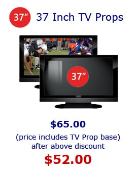 37' Fake Prop TVs for Staging and Retail Stores.  Fake Electronic Props for Home Staging