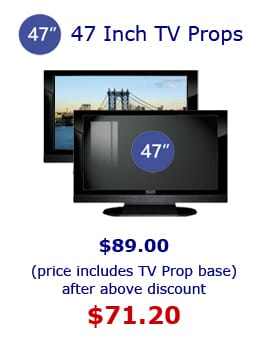 47' Plasma Prop TVs.  Props America Fake Electronic Props for Home Staging and Furniture Stores.