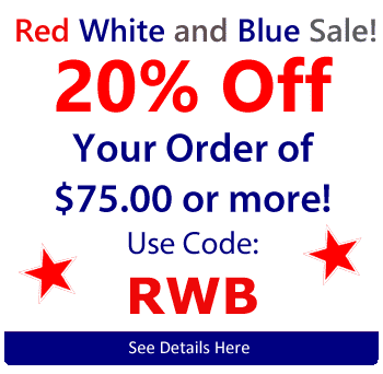 20% Order On Your Order of $75 or more Use Code RWB