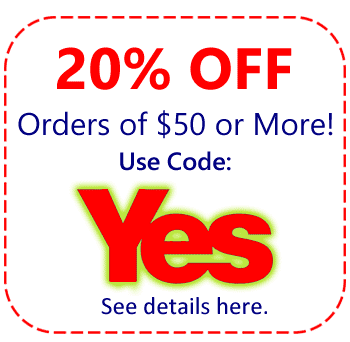 20% Order On Your Order of $50 or more Use Code YES