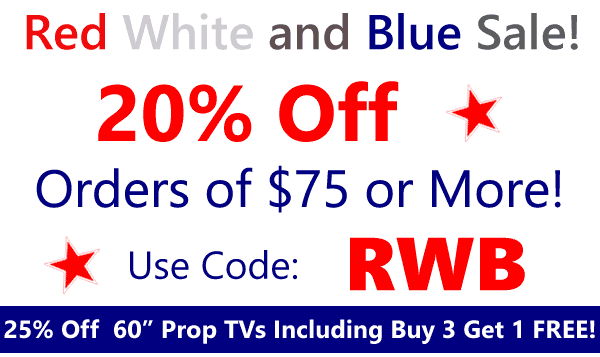 20% Off Your Order OF $75 OR MORE Use Coupon Code RWB