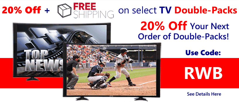 20% Off Your order today USE CODE: RWB - Free Shipping on Fake TV Props for Home staging at Props America