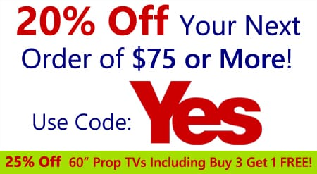 20% Off Your Order OF $75 OR MORE Use Coupon Code YES