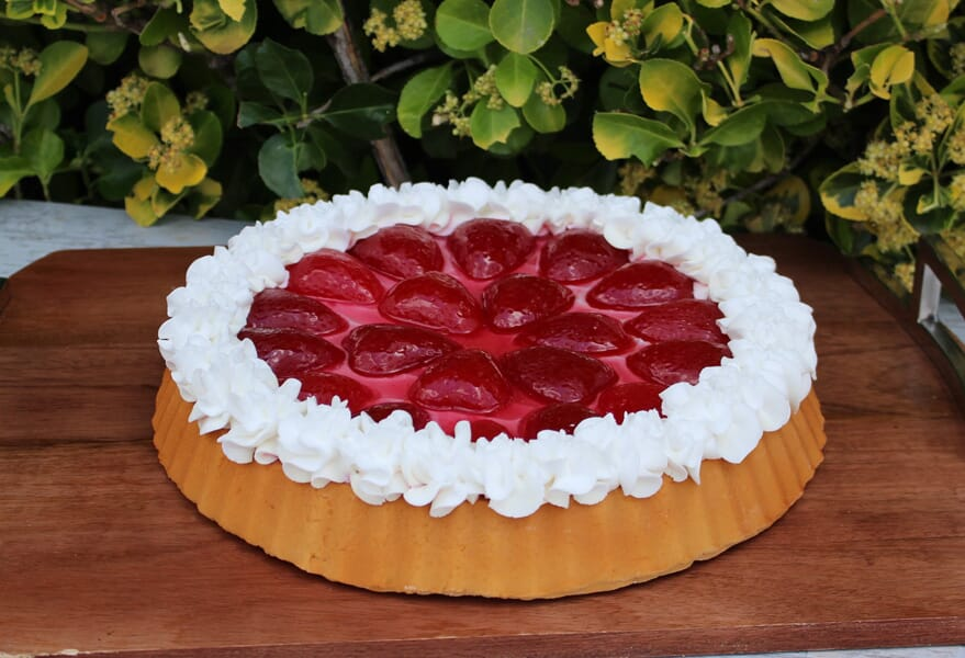Fake Large Strawberry Tart