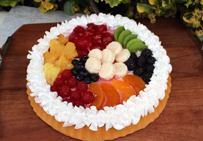 Fake Large Mixed Fruit Tart