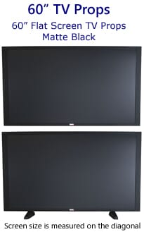 60 Inch Flat Screen TV Props - Scratch Resistant Big Screen Fake TV