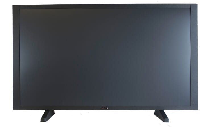 "60"" Flat Screen TV Prop in Matte Black with Optional Base"